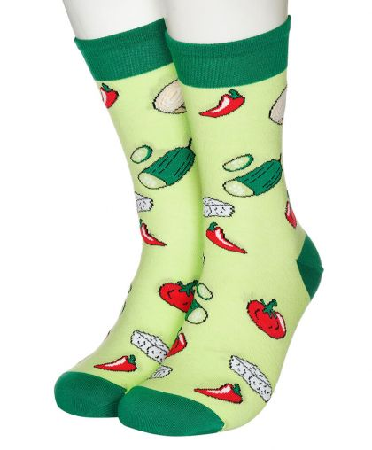 Vegetables and cheese socks