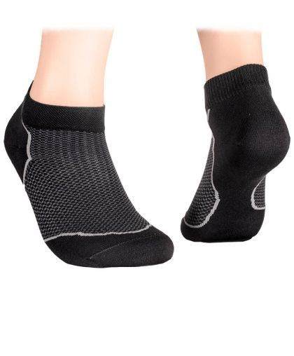Ankle socks with mesh – graphite
