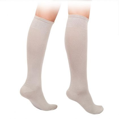 Kids 3/4 cotton socks - white