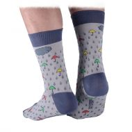 Raindrops and umbrellas socks