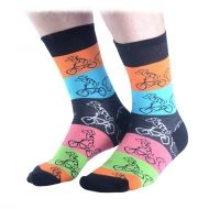 Dog riding bike socks