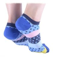 Colorful Shorty Socks in Blue