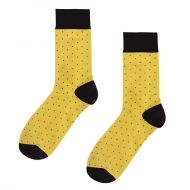 Yellow Socks on black dots