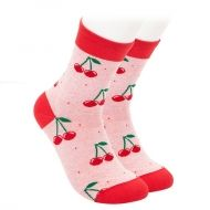 Kids Socks - cherries - pink