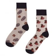 Socks Squirrels with acorns and cones