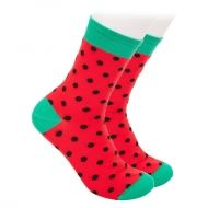 Red Socks with black dots