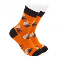 Halloween socks with spiders and cobwebs