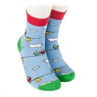 Children's socks with colorful sparrows