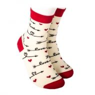 Socks with hearts and arrows LOVE