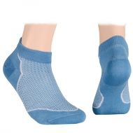 Summer Mesh Ankle Socks - light blue