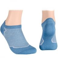 Cotton short socks with mesh – light blue