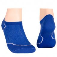 Cotton short socks with mesh – blue