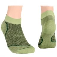 Ankle socks with mesh – green