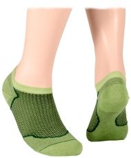 Cotton short socks with mesh