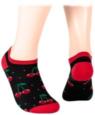 Cherries - black Shorty Socks