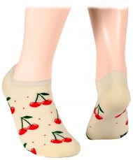 Cherries - ecru Shorty Socks