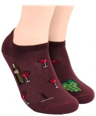 Wine shorty socks
