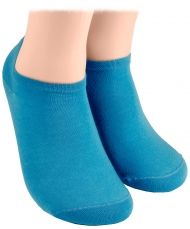 Cotton short socks – light blue