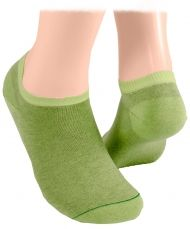Cotton short socks –green