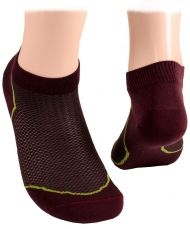 Ankle socks with mesh - burgundy