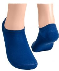 Cotton short socks with mesh – deep blue