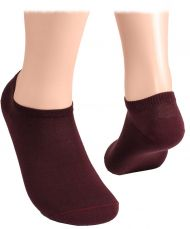 Cotton short socks  – burgundy