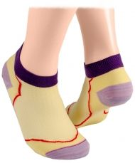 Ankle socks with mesh – pale yellow