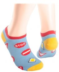 Blue Road signs Shorty Socks