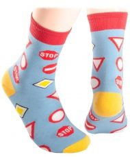 Blue Road signs Kids Socks