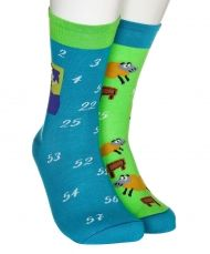 Bees and daisies kids socks blue