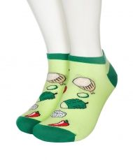 Vegetables and cheese Shorty socks