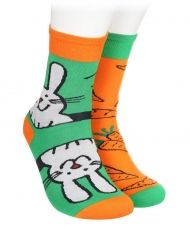 Bamboo socks WITH RABBIT AND CARROTS