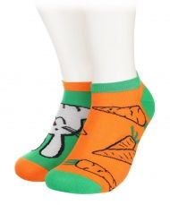 Bunny and carrots Bamboo Short Socks