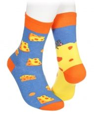 Mouse and cheese socks